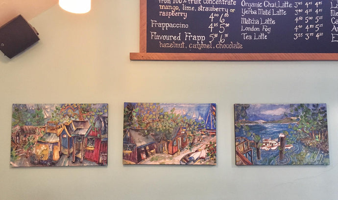 Rock Salt Cafe displays artwork by Jill Louise Campbell