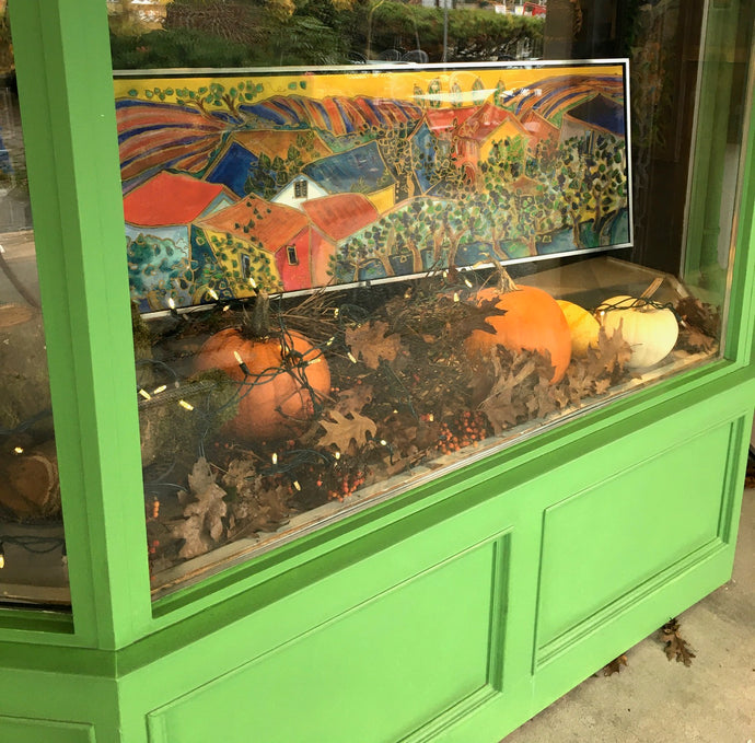 Fall colours inspire the gallery window