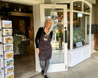 Jill at her Salt Spring Gallery