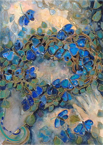Crown Me Blue Butterfly : Art Print