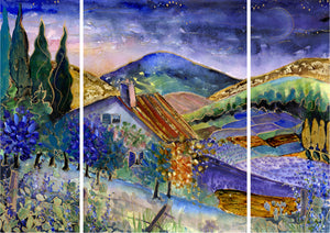 Daybreak in Provence : Three Part Triptych