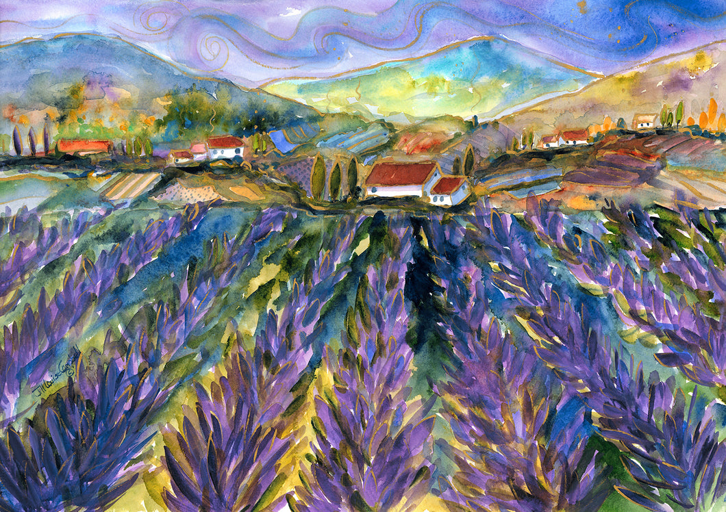Fragrant Fields : Art Print