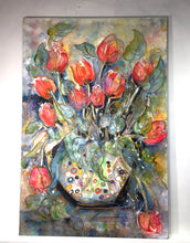 "Load image into Gallery viewer, Tulips In Glass: Edition #32 : Medium 24""x36"""