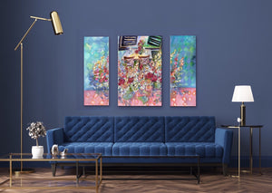 Alfresco : Triptych Canvas Limited Edition