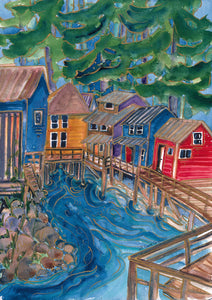 Fishing Shanty : Art Print