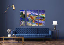 Load image into Gallery viewer, Daybreak in Provence : Three Part Triptych
