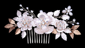 HC2133 Floral Hair Comb