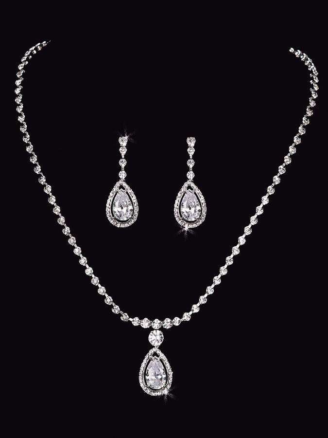 Rhinestone Necklace Set NL1555