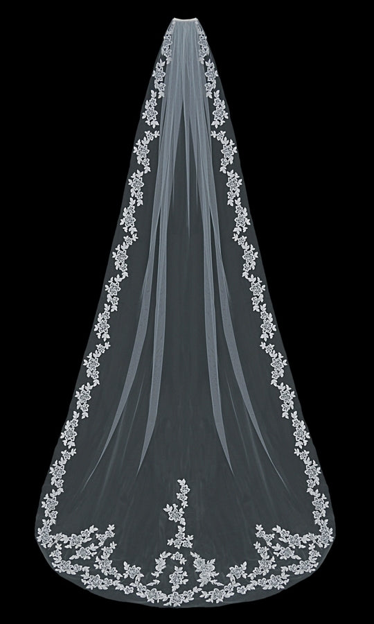Cathedral Bridal Veil V1597C