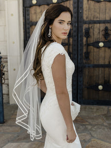 Single Tier Bridal Veil V2088SF