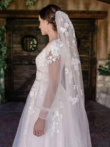 Single Tier Bridal Veil V2093WZ