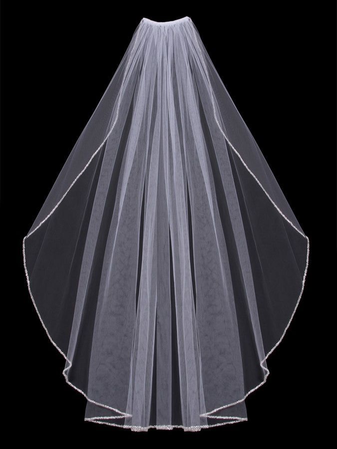 Single Tier Bridal Veil V303SF