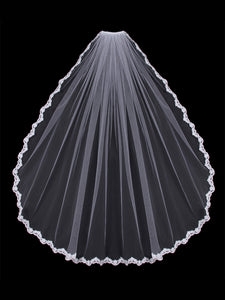 Single Tier Bridal Veil V451SF