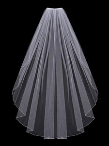 Single Tier Bridal Veil V600SF
