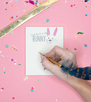 Hop To It Like A Bunny Notepad