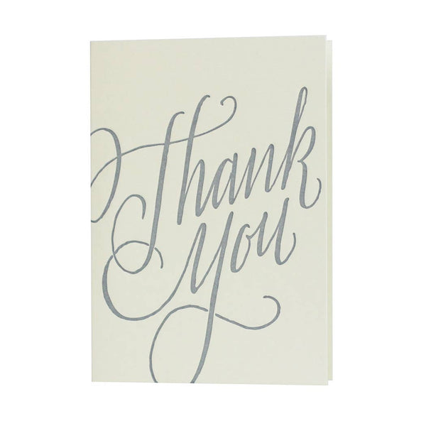 Stonecarved Calligraphy Thank You Card