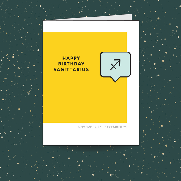 Sagittarius Birthday Card
