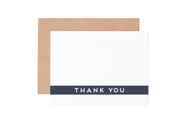 Simple Thank You Cards Box of 6 Cards