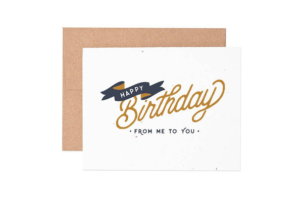 Birthday Banner Seeded Plantable Greeting Card