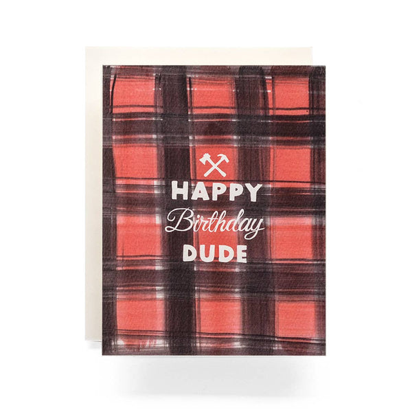Buffalo Plaid Birthday Greeting Card