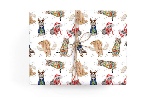 Cats Holiday Gift Wrap Roll
