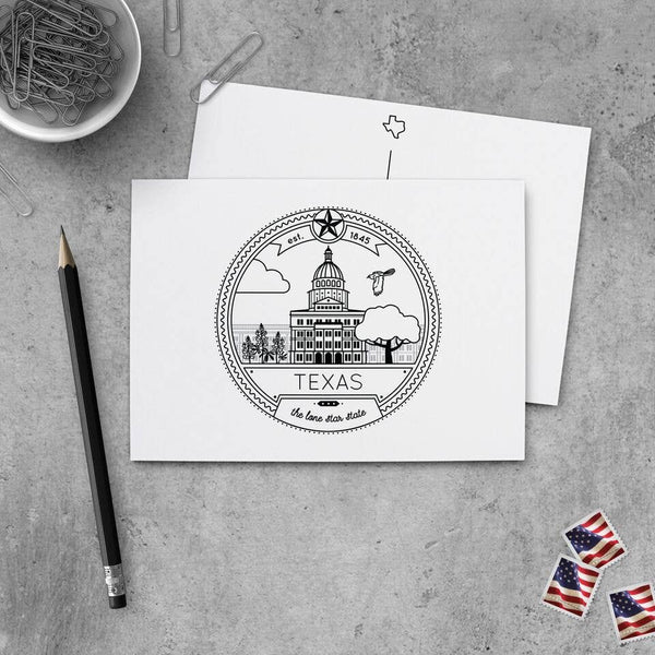 Texas Seal Art Print / Postcard