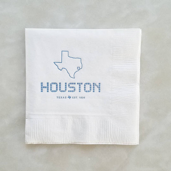 Houston Tile Beverage Napkin