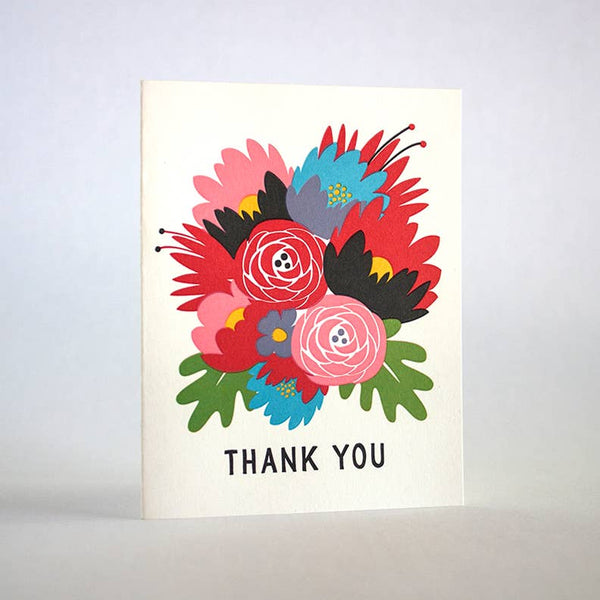 Thank You Bouquet Cards Set of 8