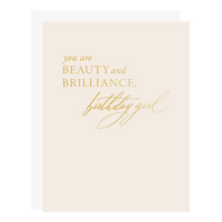 Beauty Brilliance Birthday Card
