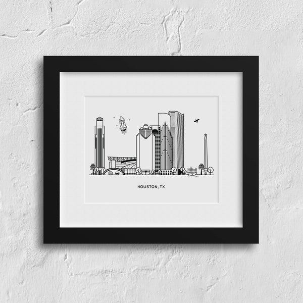 Houston, Texas Art Print