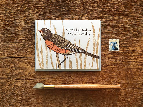 Little Bird Birthday Card
