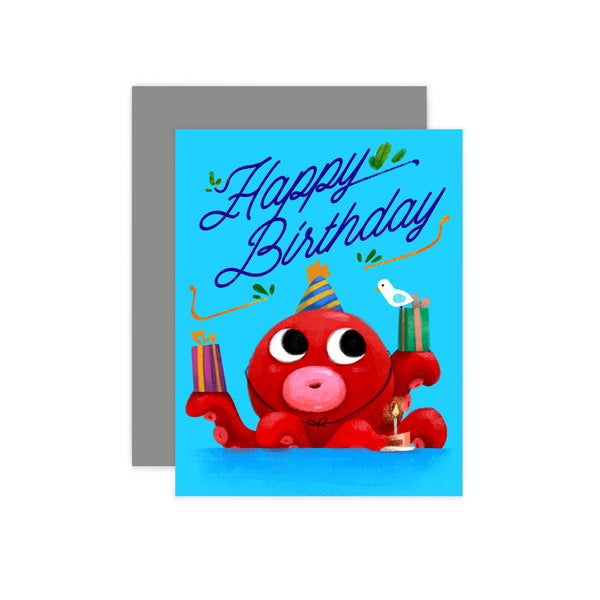 Octopus Birthday Card
