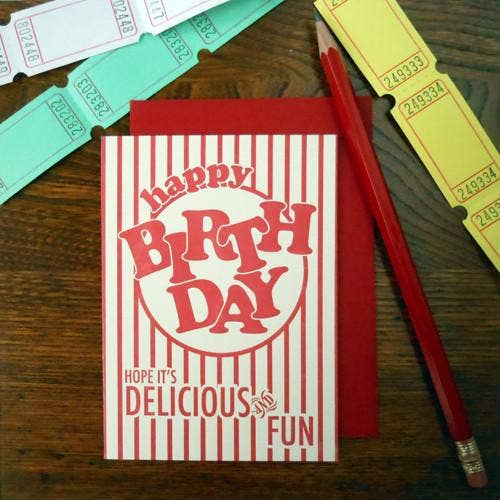 Popcorn Package Birthday