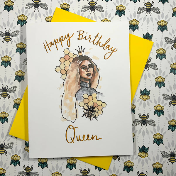Happy Birthday Queen Bee Beyoncé Card
