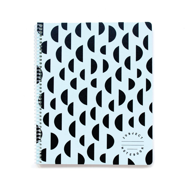 Half Moons Subject Notebook