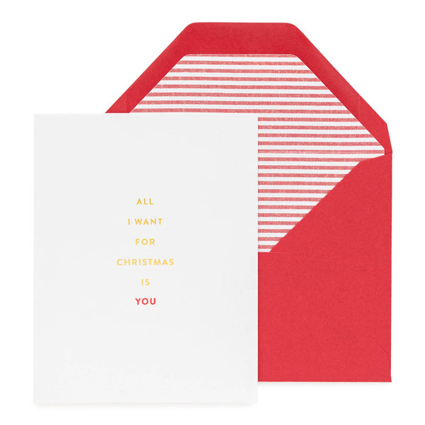 All I Want for Christmas is You Stripe Card