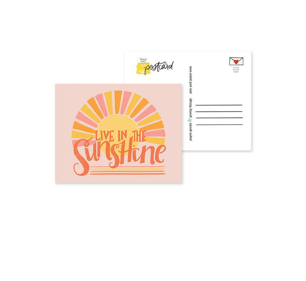 Live in the Sunshine Postcard