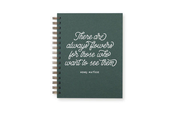 Always Flowers Lined Notebook