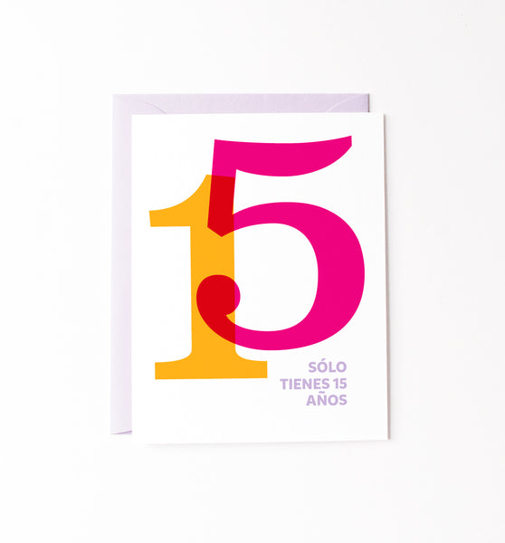 15 Años birthday card