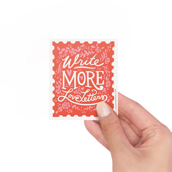 Write More Love Letters Vinyl Sticker