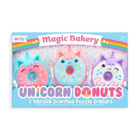 Magic Bakery Unicorn Donuts Scented Erasers Set of 3
