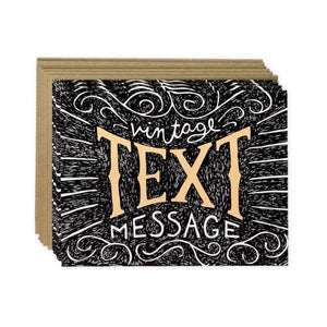 Vintage Text Boxed Card Set