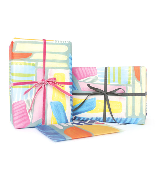 Shapes & Color Gift Wrap Sheets