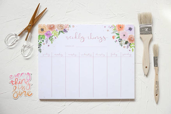 Weekly Things Notepad