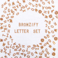 Bronze Plastic Letter Set for Felt Letter Boards