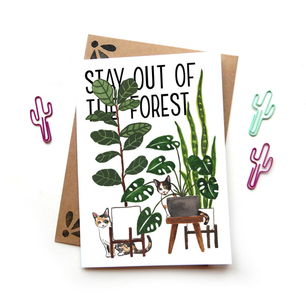 Stay Out of the Forest Card