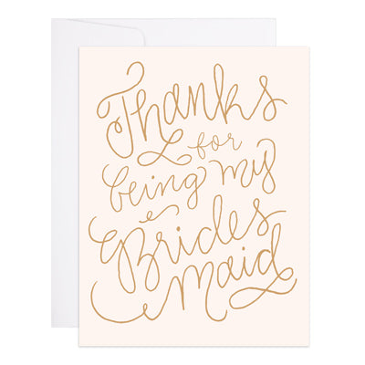 Thanks Bridesmaid Card