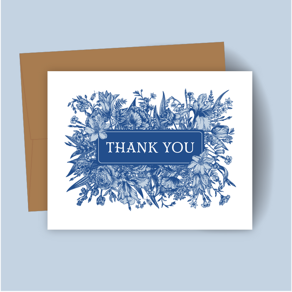 Floral Thank You Box Set of 8