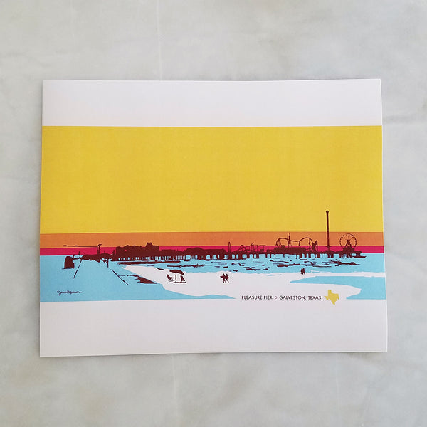 Galveston Pleasure Pier Print