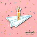 Paper Plane Candle Sticker
